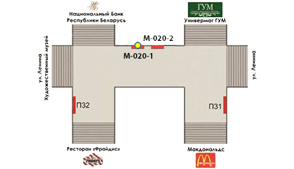 Схема размещения рекламного места М-020-1