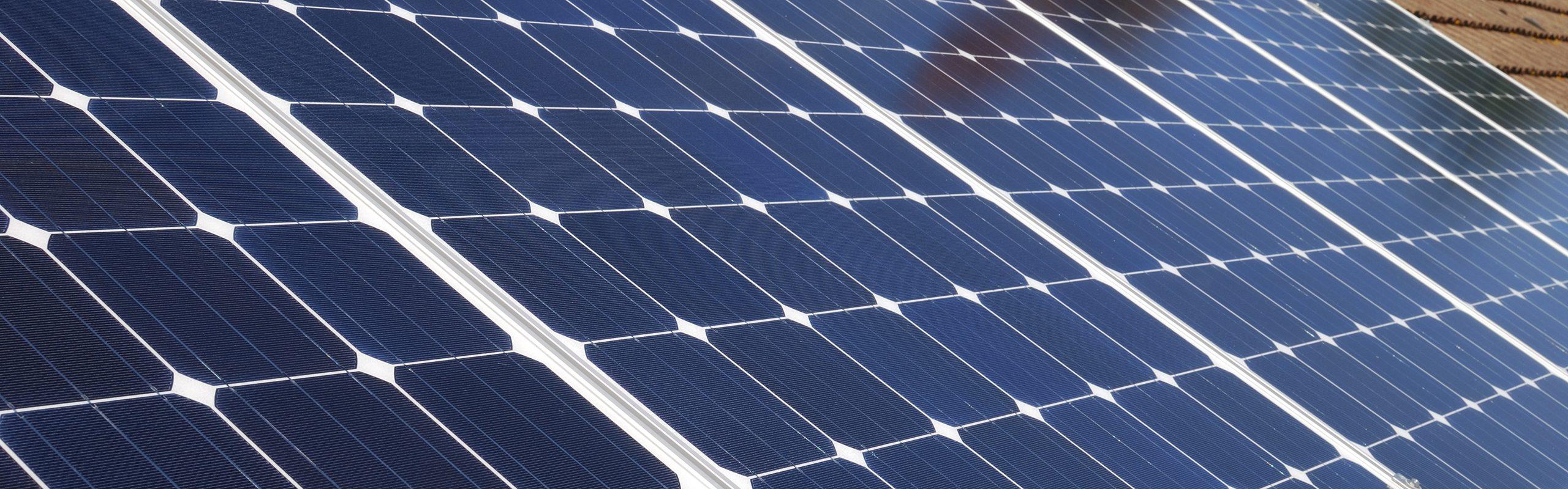 PV solar panel installation