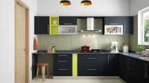 L-shaped Modular Kitchen Design India Homelane