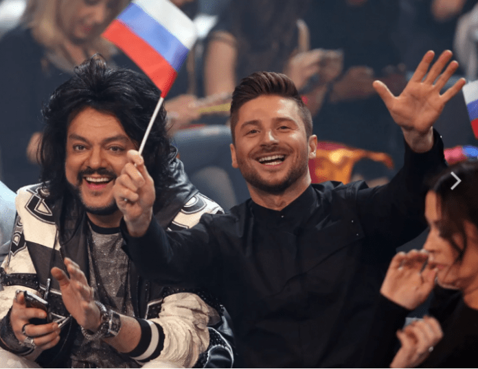 Philip Kirkorov and Sergey Lazarev at the Eurovision Song Contest in 2016 in Stockholm. Photo: social networks