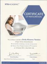 pte certificate Dolly