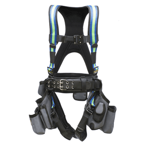 Deluxe Harness With Tool Bags - Blue Green