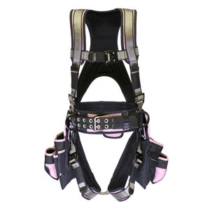 Deluxe Harness With Tool Bags - Pink