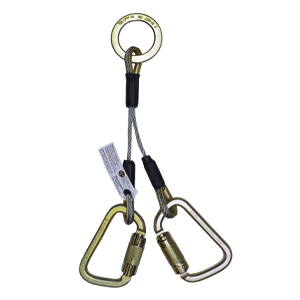 2-D Lanyards Steel Auto Lock Carabiners