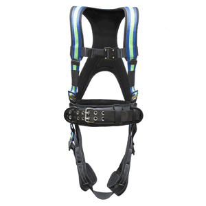 Deluxe Harness No Bags – Blue/Green