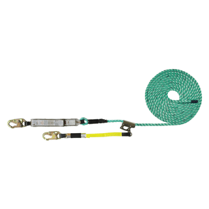 Maxima FA Fall Arrester Lifeline  - Integral Adjuster Rope Grab Lanyard Options