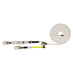 Value FA Fall Arrester Lifeline - Integral Adjuster Rope Grab Lanyard Options