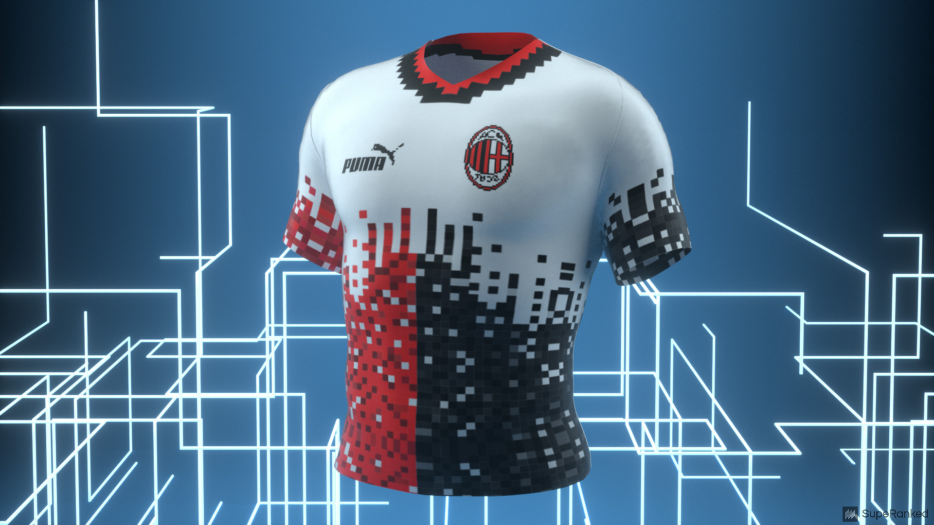 eSport Jersey AC Milan - Front Space Blue