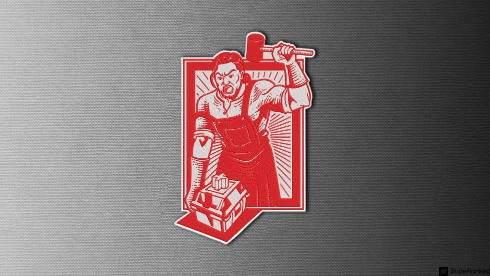 SupeRanked 012 Mechanical Switch Embroidered Patch - Blacksmith