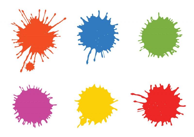 Paintball Splatters Download Free Vector Art