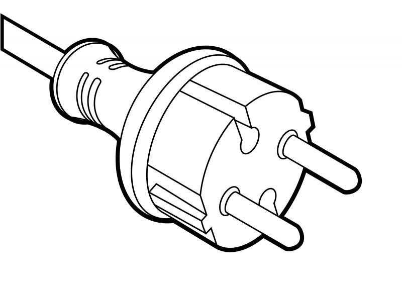 Power Cord Outline Vector Illustration