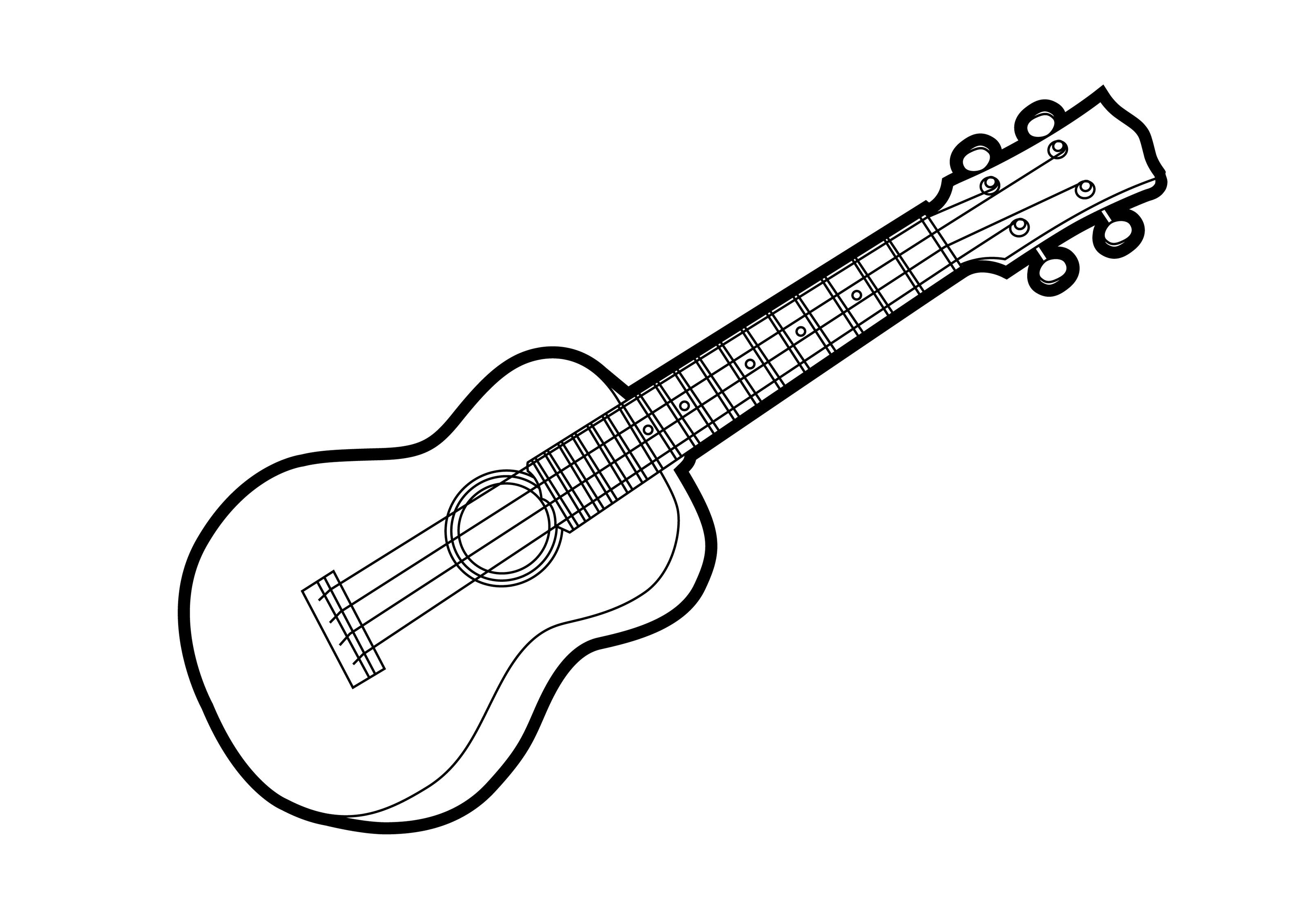 ukulele-outline-vector-illustration