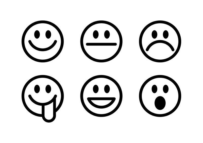 6 Simple Vector Smilies