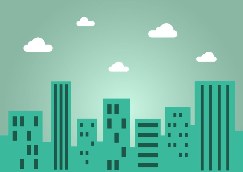 Simple Flat City Landscape