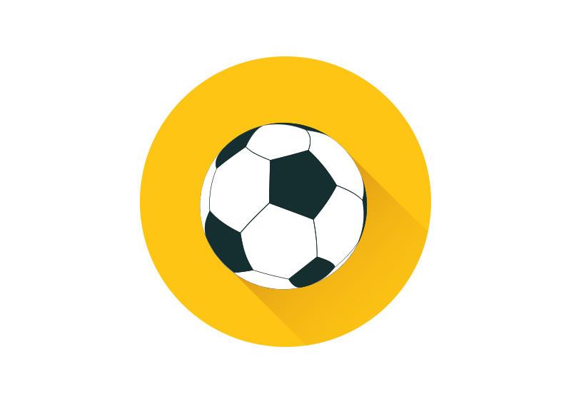 Football Flat Vector Icon