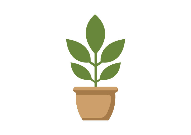 Potted Plant Flat Vector SuperAwesomeVectors