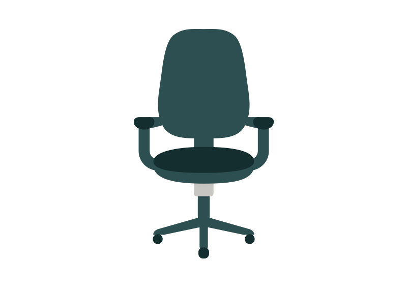 office chair vector tommy bahama beach flat icon superawesomevectors