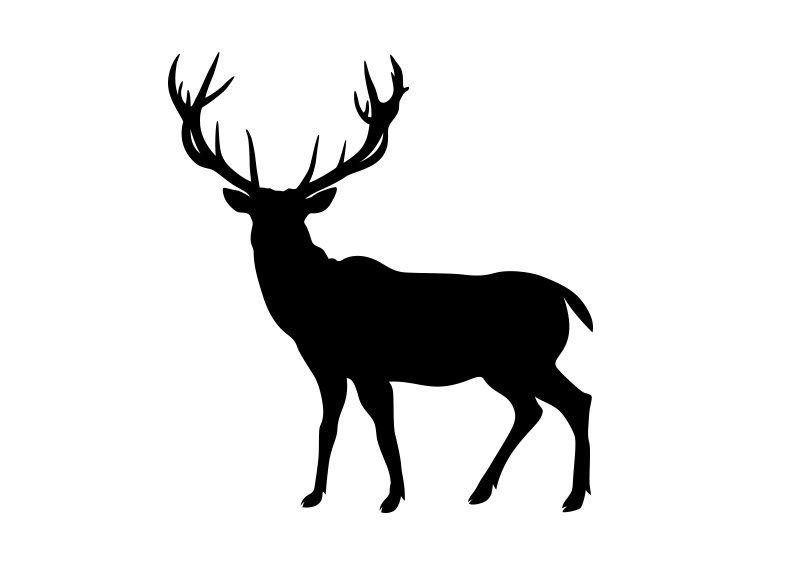 deer silhouette superawesomevectors
