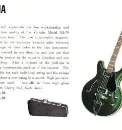 sa 70 1968 yahama guitar catalog page 9  [ 1277 x 924 Pixel ]