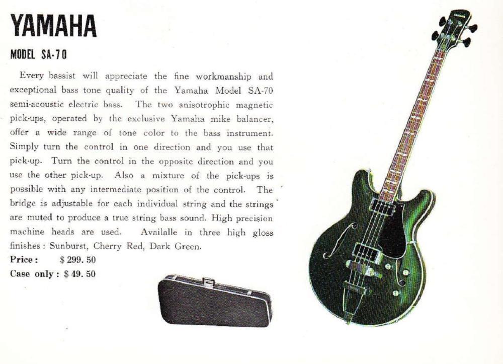 medium resolution of sa 70 1968 yahama guitar catalog page 9