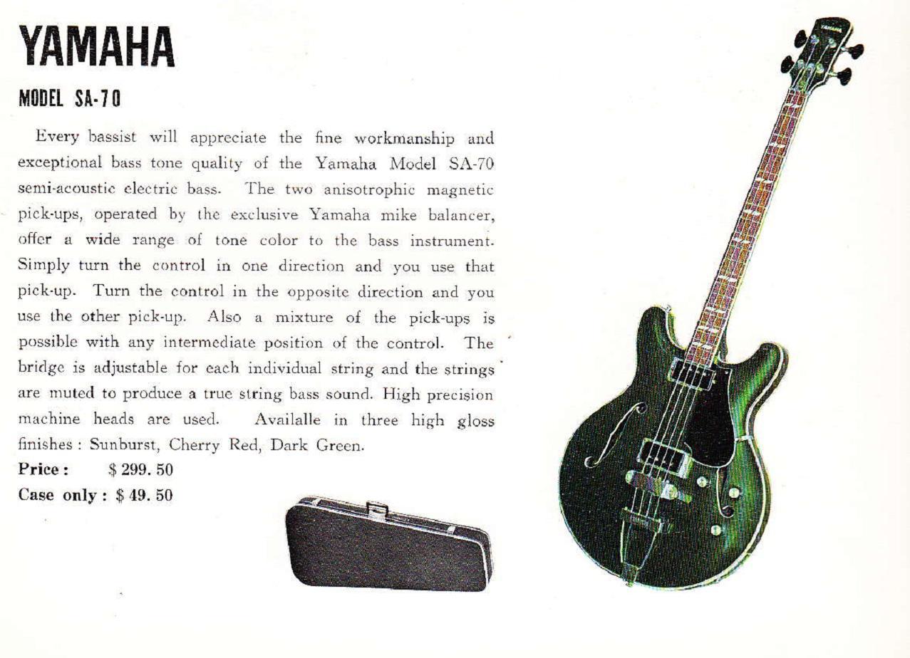 hight resolution of sa 70 1968 yahama guitar catalog page 9