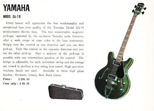 small resolution of sa 70 1968 yahama guitar catalog page 9