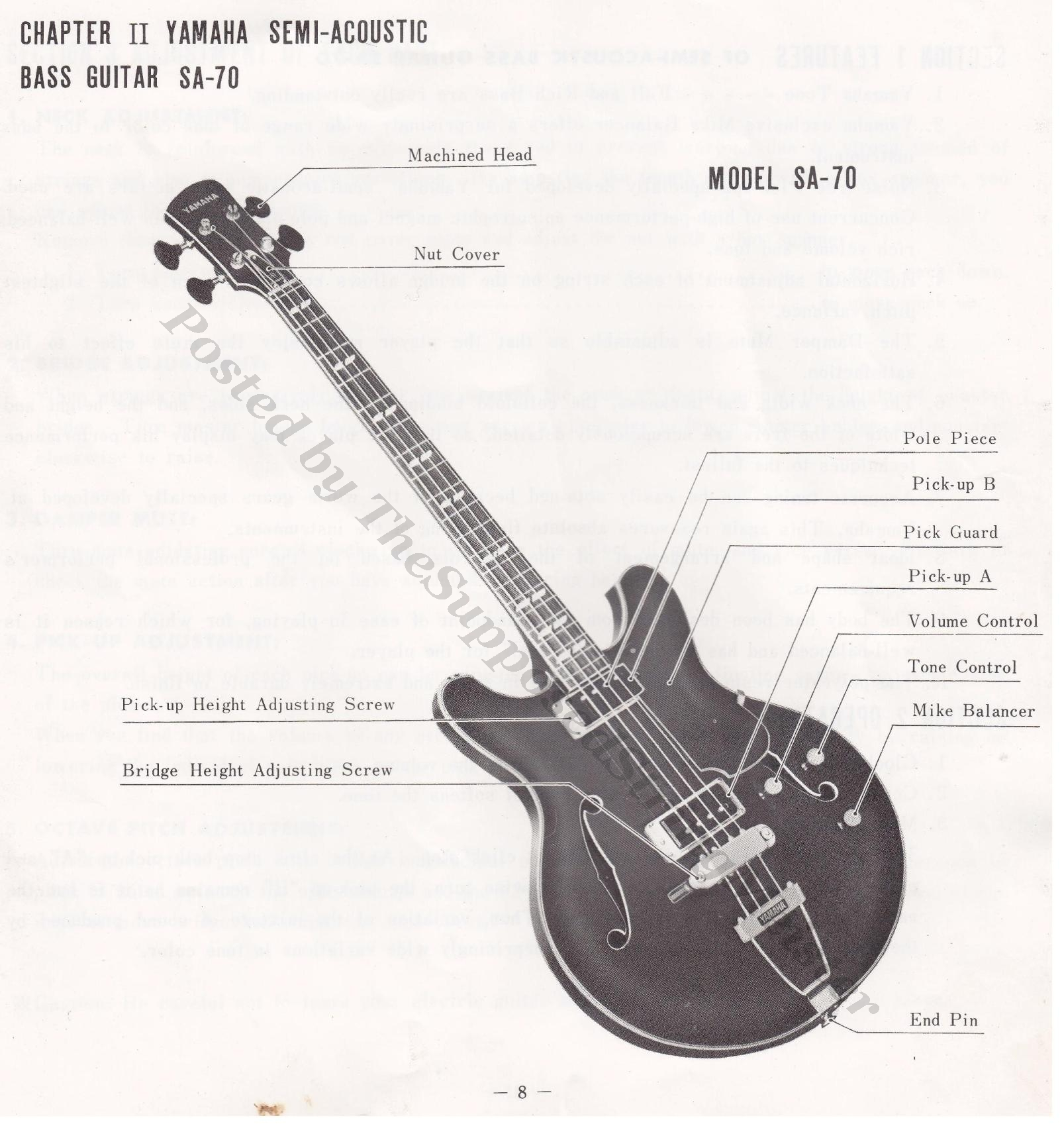 hight resolution of sa 70 yamaha guitar booklet page 8 layout full