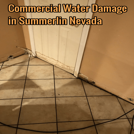 Commercial Water Damage in Summerlin Nevada