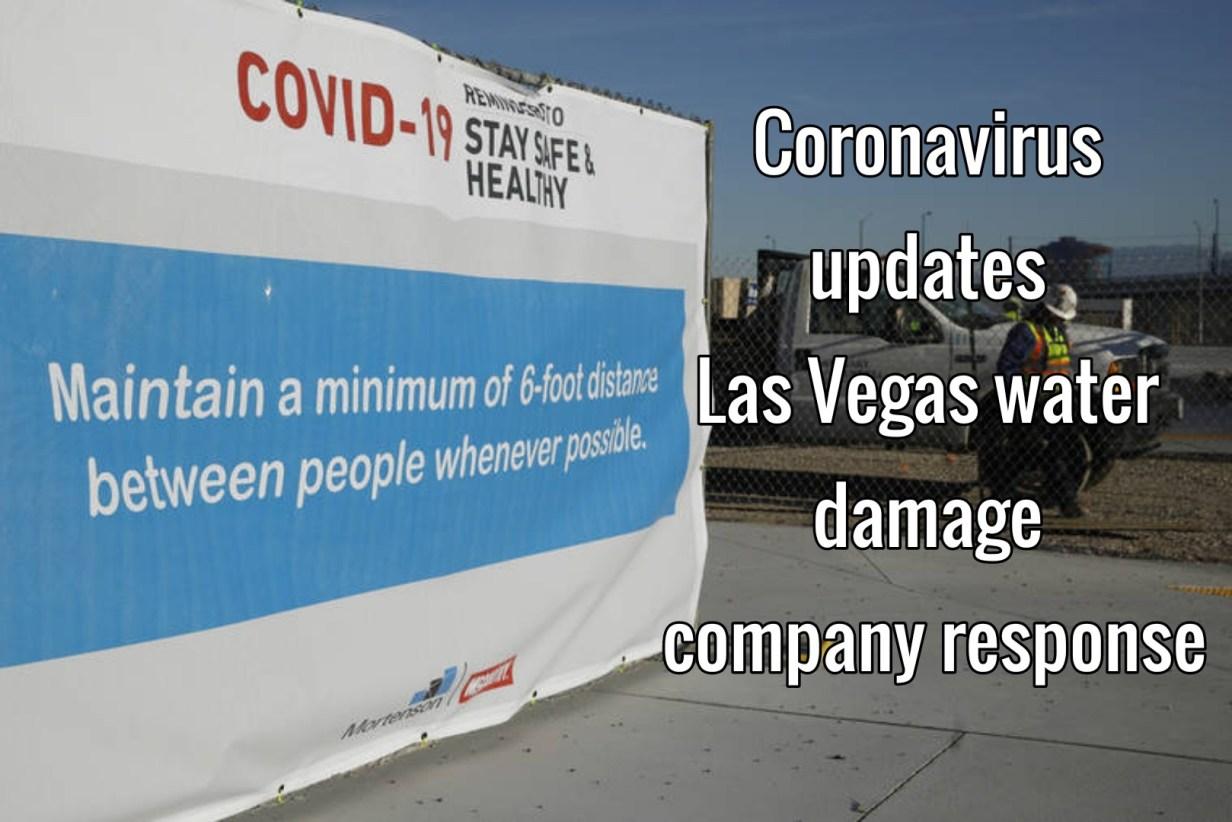 Coronavirus updates Las Vegas water damage company response