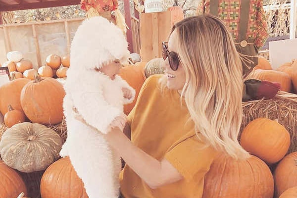 "Lauren Conrad's ""Little Lamb"" celebrates his first Pumpkin Patch"