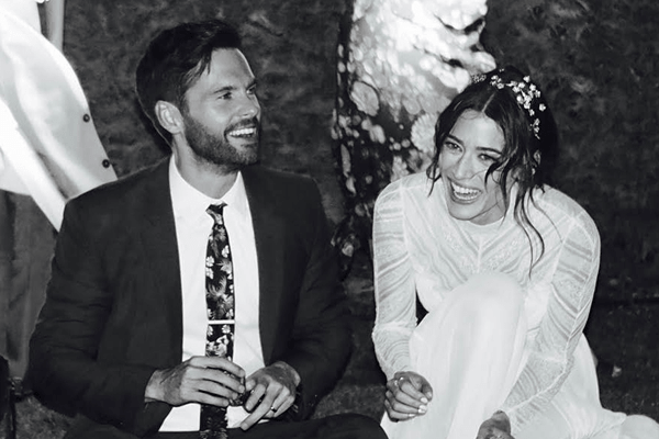 Lizzy Kaplan and Tom Riley married