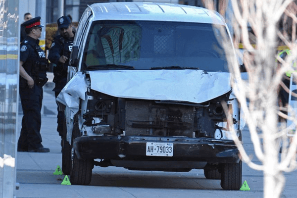 Toronto Van Accident, Death Toll reached 10 leaving 15 injured.