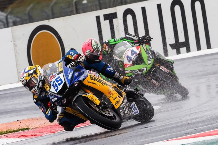 Locatelli And Mahias Battle It Out For Worldssp Race 1 At Soaking Magny-cours