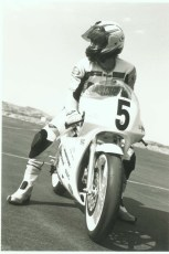 Keith at special 125 GP school, 1996.