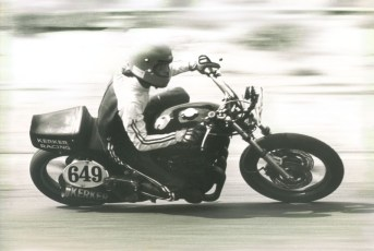 Club racing 1974 on a bike Keith borrowed from Pierre DeRoches.