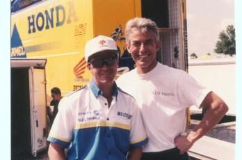 Former student Bubba Shobert, 1988 US Superbike Champion.