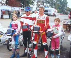John Ulrich, Keith and two young racers by the names of Tommy and Nicky Hayden.