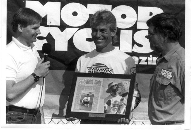 1991 Voted Motorcyclist Magazine's, Motorcyclist of the Year