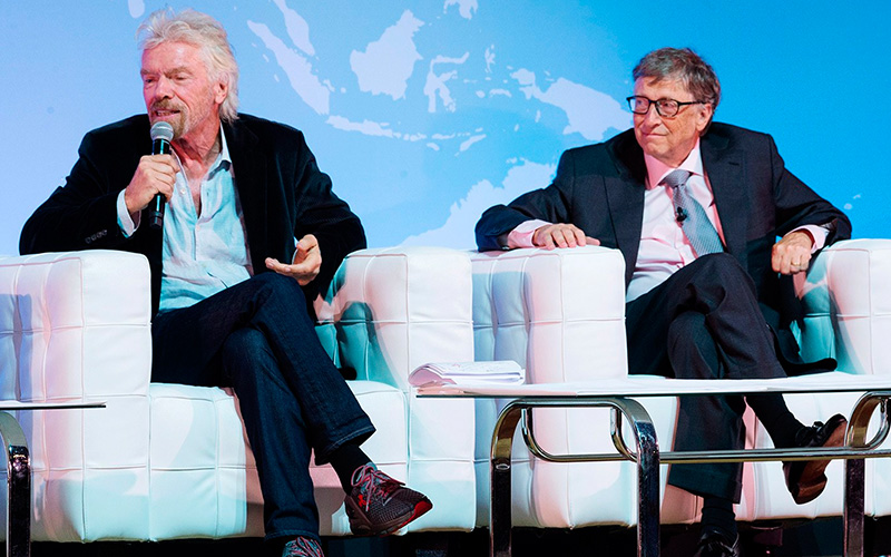 Bill Gates y Richard Branson discuten Bitcoin en CES 2020.