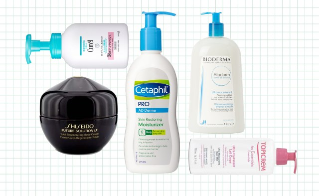 A personal journey about living with eczema, this image features the body care products the writer has used to soothe any skin irritations on her body.