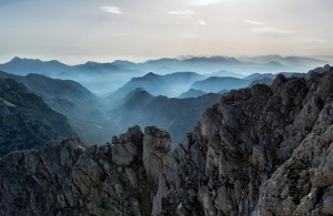 Mountain top view - ups and downs of entrepreneurship