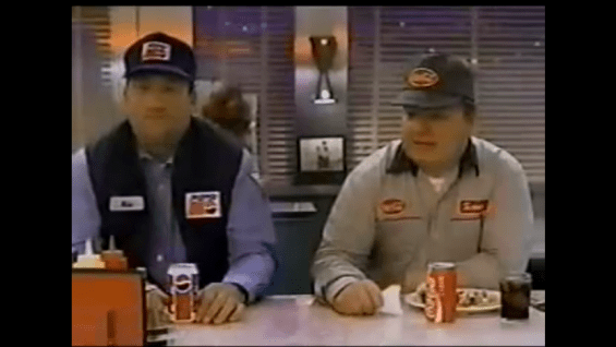 1995 – Pepsi Delivery Truck Drivers Share in Diner