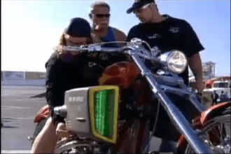 2004 AOL Orange County Choppers Guys attach AOL Topspeed device and see what happens