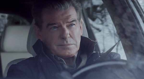 "Pierce Brosnan makes the ""Perfect Getaway"" in Kia Motors America's 60-second spot for the all-new 2016 Kia Sorento CUV that will appear during the third quarter of Super Bowl XLIX."