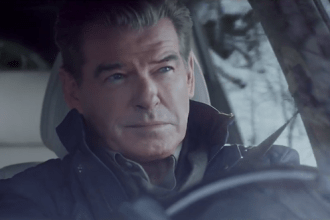 """Pierce Brosnan makes the """"Perfect Getaway"""" in Kia Motors America's 60-second spot for the all-new 2016 Kia Sorento CUV that will appear during the third quarter of Super Bowl XLIX."""