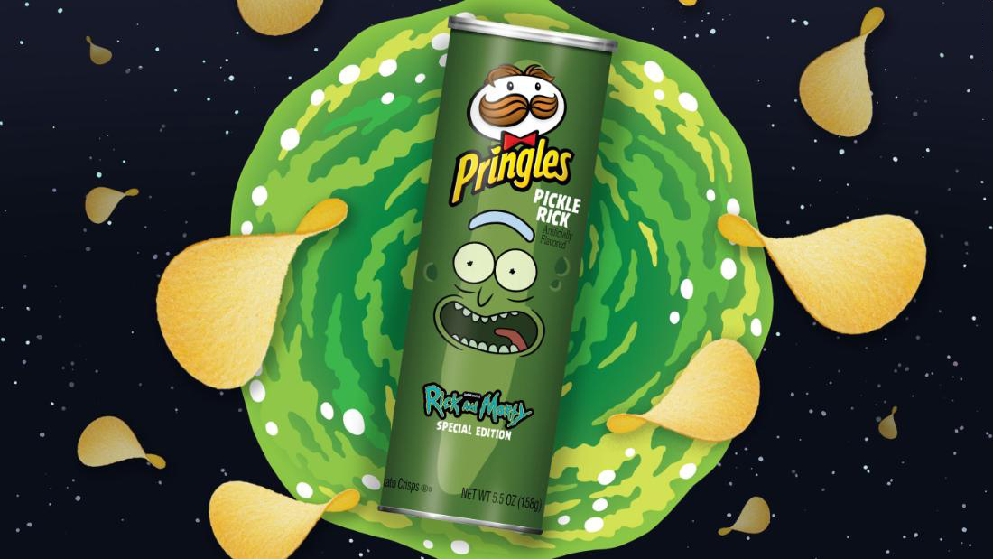 "Pringles Rick and Morty flavor ""Pickle Rick"""