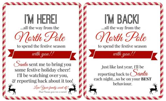 free elf on a shelf printables super busy mum a collection