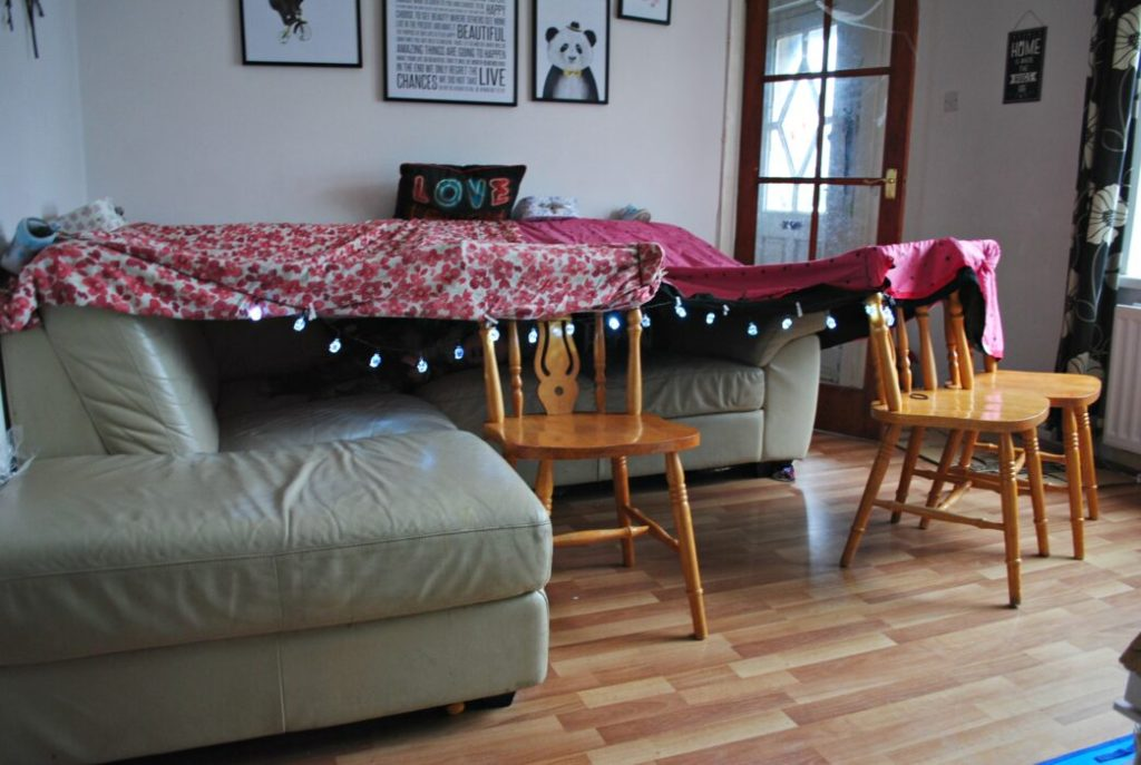 Building dens with the DFS Sofa Fort Campaign