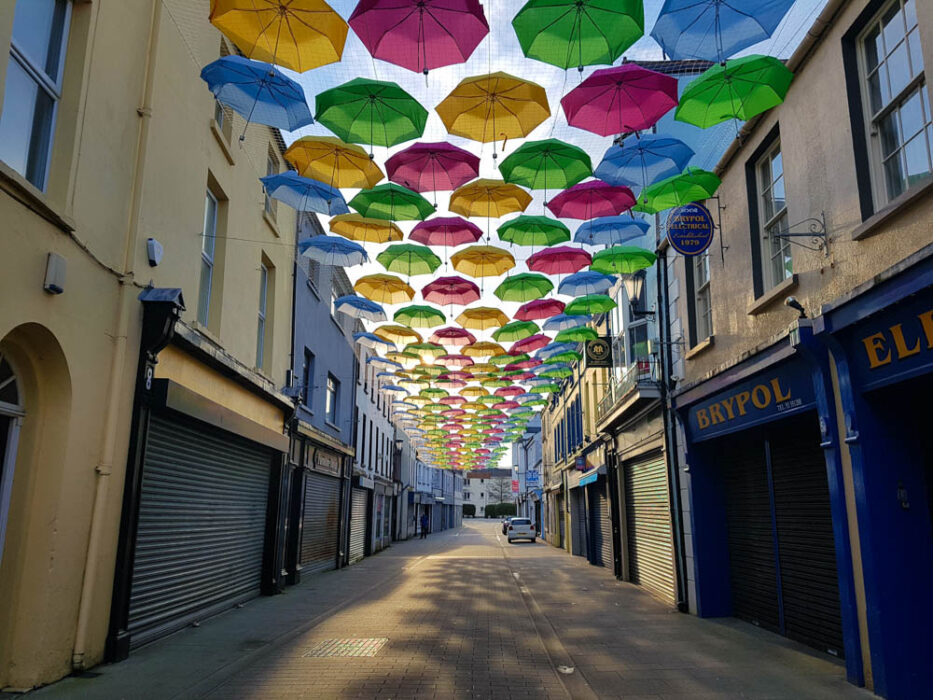 The pretty umbrellas of West Street