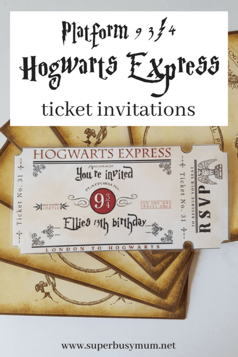 image relating to Hogwarts Express Ticket Printable called Harry Potter birthday invites Archives - Tremendous Active Mum